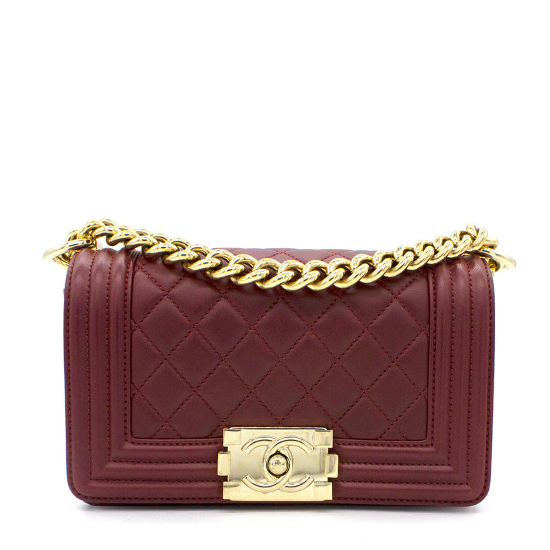Le Boy Flap Bag Quilted Lambskin Small