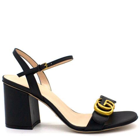 Marmont Leather mid-heel sandal