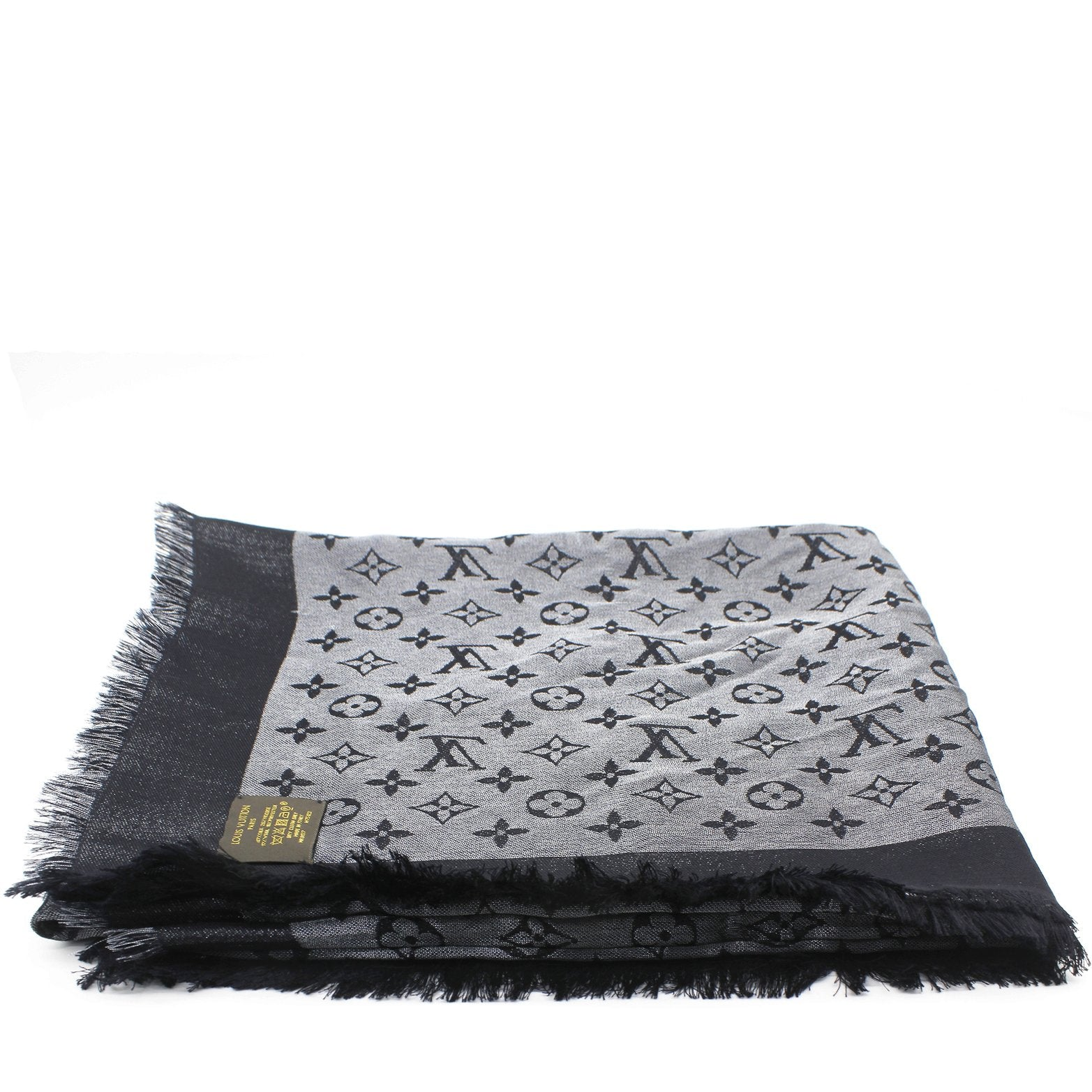 Monogram Denim Shawl Black