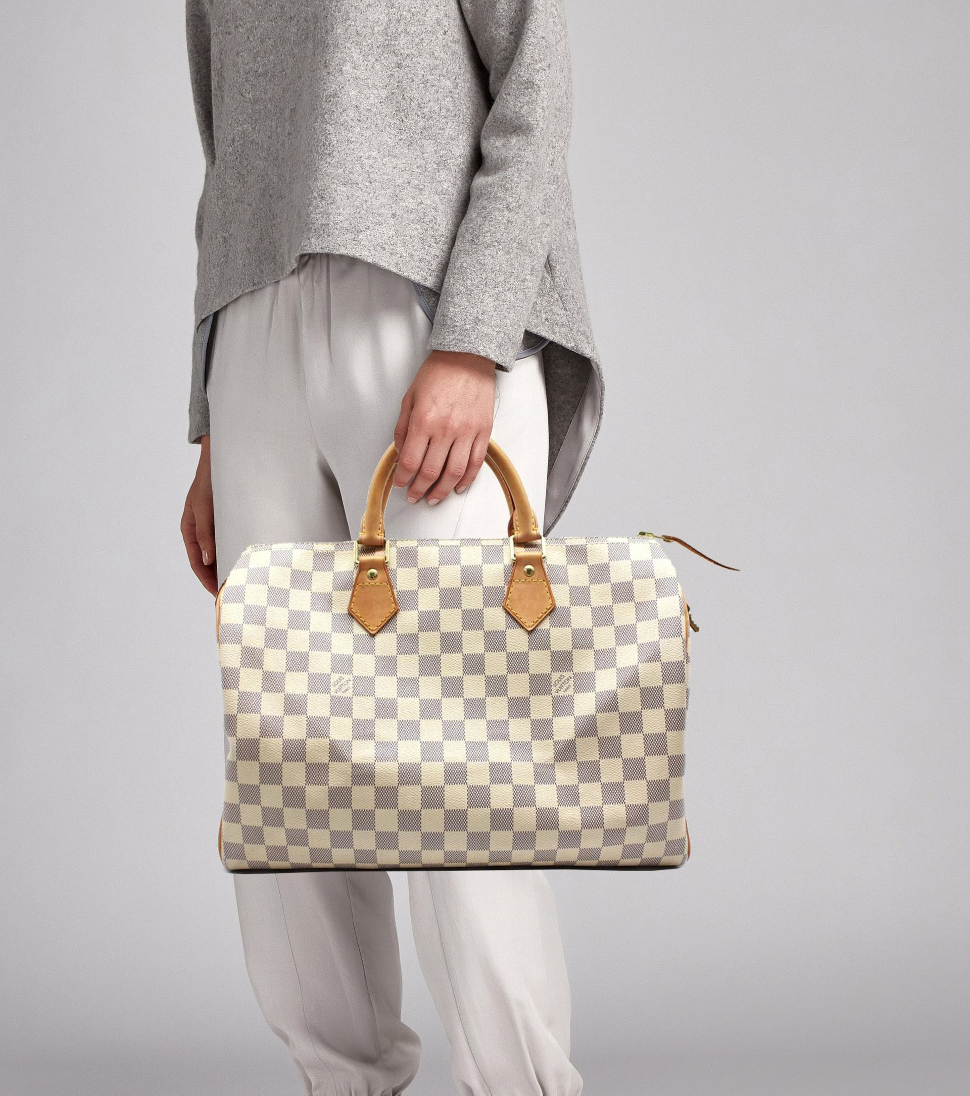 1dd3a9c2be7 Louis Vuitton Speedy 35 Damier Azur Canvas – STYLISHTOP