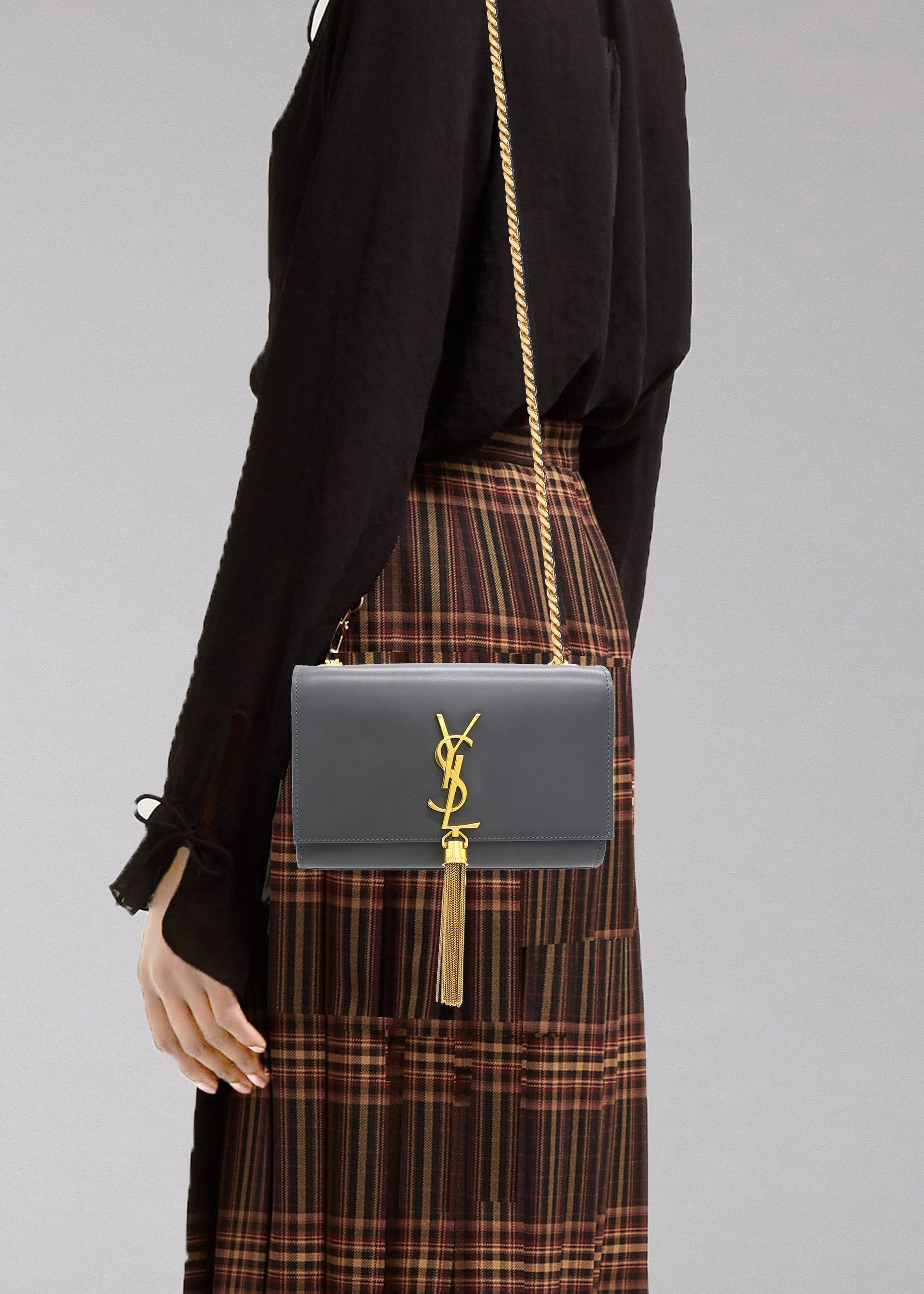 Small Kate Bag with Tassel in Smooth Leather