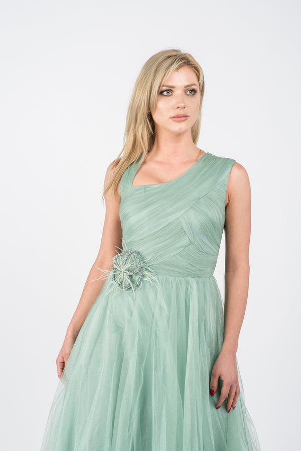 Rochie lunga din tulle Roza V
