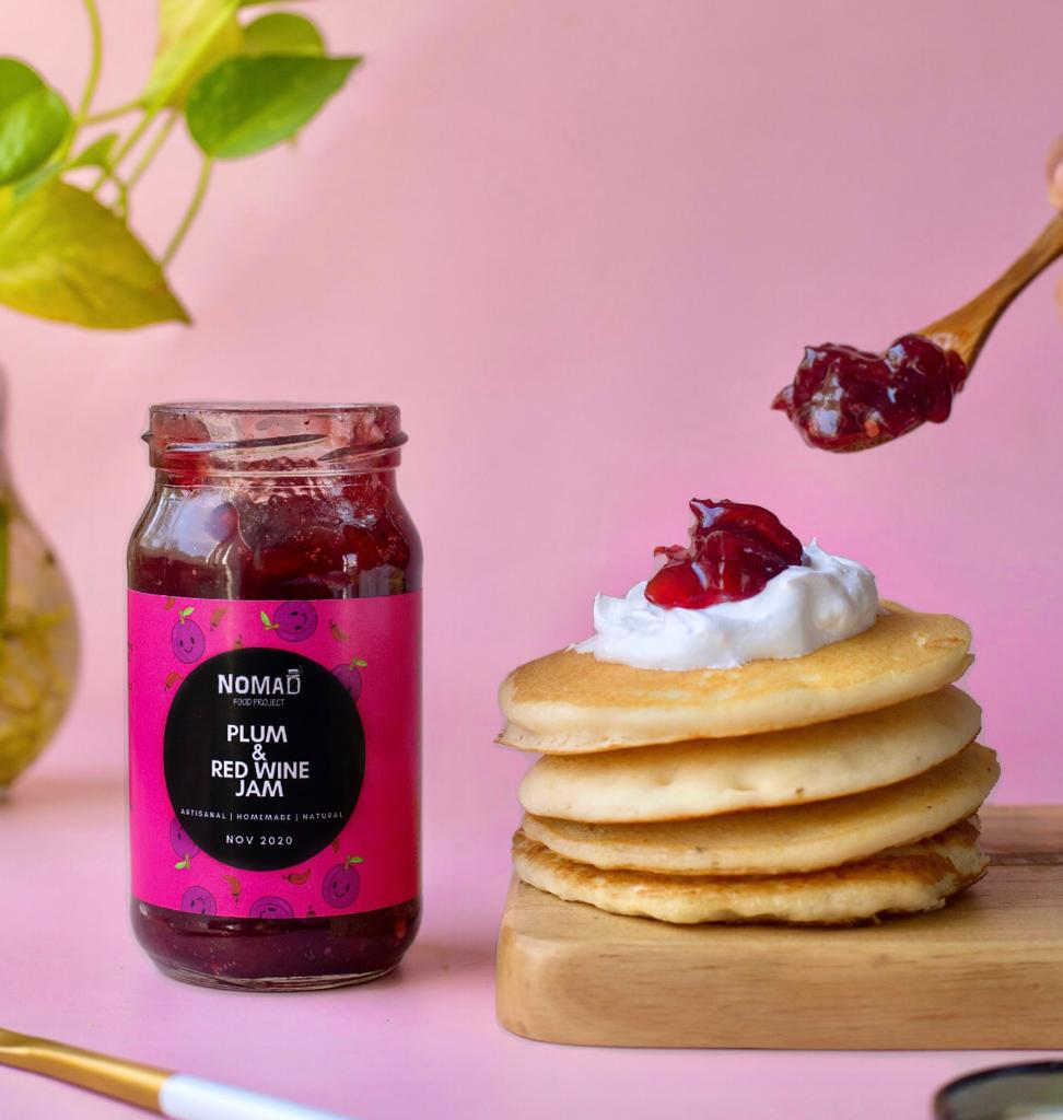 Plum & Red Wine Jam - nomadfoodproject