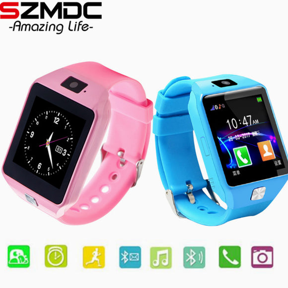 SZMDC Smart Watch DZ09 Support SIM TF Cards For Android IOS Phone Children Camera Women Bluetooth Watch With Retail Box