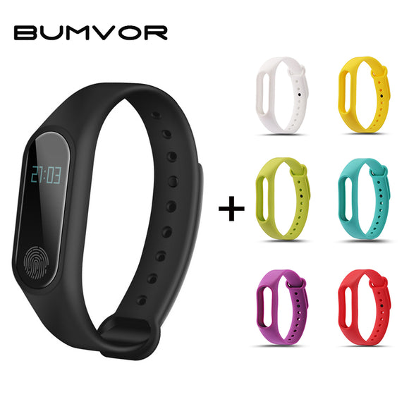 BUMVOR Women's Waterproof IP67 Fitness Heart Rate Monitor Blood Pressure Pedometer Bluetooth  M2 Watch+Watchbands Smart Wristban