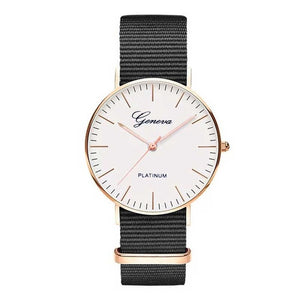 Simple Nylon strap luxury fashion woman montre femme