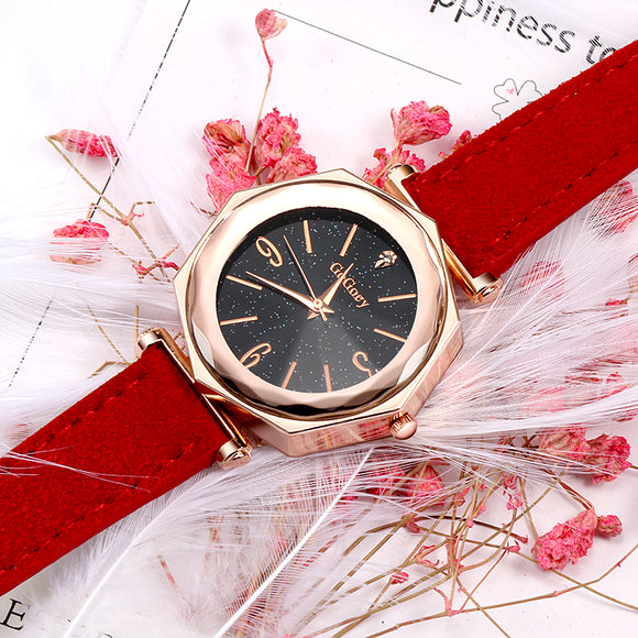 Fashion Rose Gold Women's Watches Top Brand Luxury Diamond Ladies Watch Women Watches Leather Wrist Watch relogio feminino