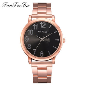 Silver Crystal Stainless Steel Watches Women Dial Simple Quartz Female Clock Pointer High Quality Ladies Dress Watch