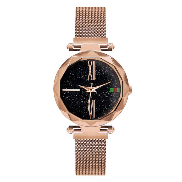 Luxury Women Watch Minimalism Starry Sky