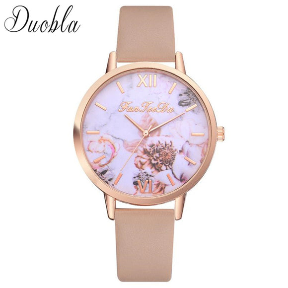 High Quality Fashion Leather Strap Ladies Women Watch