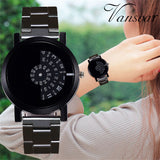 Casual Quartz Stainless Steel Band Strap Watch