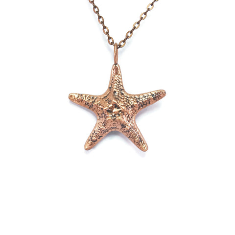 Starfish Necklace | Starfish Pendant | Real Starfish Necklace | Sea Shell Necklace | Seashell Necklace | Seashell Jewelry | Beach Necklace