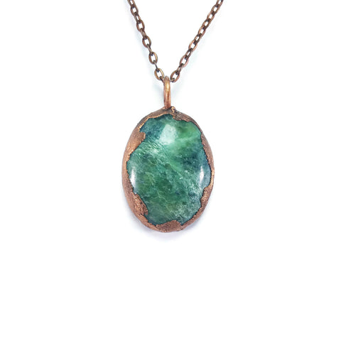 Vesuvianite Necklace | Idocrase Necklace | Vesuvianite Pendant | Vesuvianite Jewelry | Electroformed Necklace | Crystal Necklace | Boho