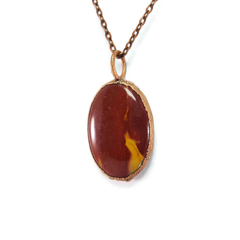 Mookaite Necklace | Mookaite Pendant | Mookaite Jewelry | Raw Mookaite | Statement Necklace | Electroformed Necklace | Crystal Necklace