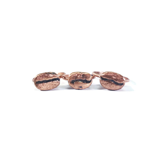 Coffee Bean Ring | Real Coffee Ring | Real Coffee Bean Ring | Coffee Jewelry | Electroformed Ring | Barista Gift | Gift For Her | Copper