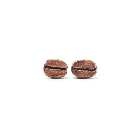 Coffee Bean Earrings | Real Coffee Earrings | Coffee Bean Stud Earrings | Coffee Bean Jewelry | Barista Gift | Gift For Her | Boho Earrings