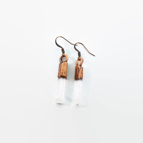 Raw Selenite Earrings | Selenite Earrings | Selenite Drop Earrings | Selenite Dangle Earrings | Raw Crystal Earrings | Crystal Earrings