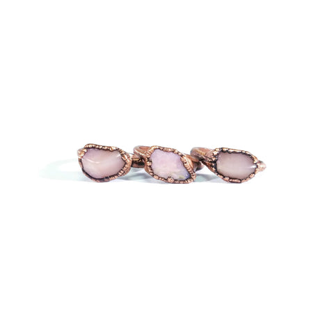 Pink Opal Ring | Raw Opal Ring | Pink Opal Jewelry | Opal Ring | Dainty Ring | Copper Ring | Electroformed Ring | Crystal Ring | Pink Ring