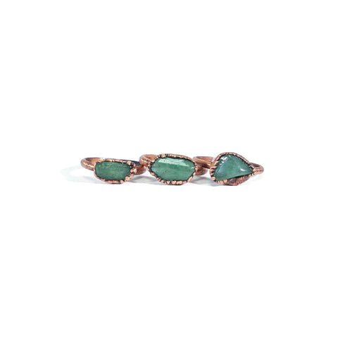 Aventurine Ring | Raw Aventurine Ring | Copper Aventurine Ring | Dainty Aventurine Ring | Stacking Aventurine Ring | Raw Crystal Ring