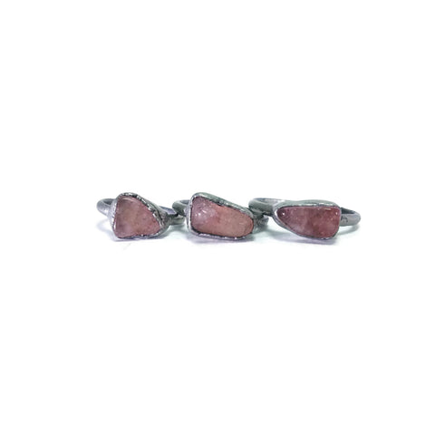 Silver Pink Tourmaline Ring | Raw Pink Tourmaline Ring | Pink Tourmaline Ring | Pink Tourmaline Jewelry | Electroformed Ring | Crystal Ring
