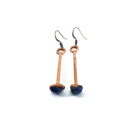 Raw Lapis Lazuli Earrings | Lapis Lazuli Dangle Earrings | Lapis Lazuli Drop Earrings | Raw Crystal Earrings | Crystal Earrings | Boho