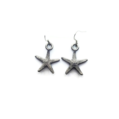Silver Starfish Earrings | Starfish Earrings | Real Starfish Earrings | Sea Earrings | Starfish Jewelry | Beach Earrings | Boho Earrings