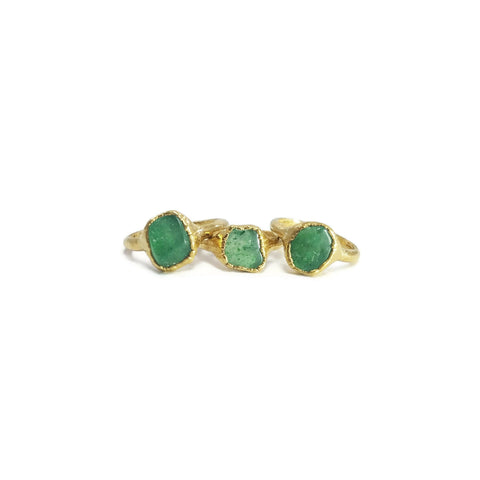Gold Aventurine Ring | Raw Aventurine Ring | Aventurine Ring | Dainty Aventurine Ring | Stacking Aventurine Ring | Raw Crystal Ring | Boho