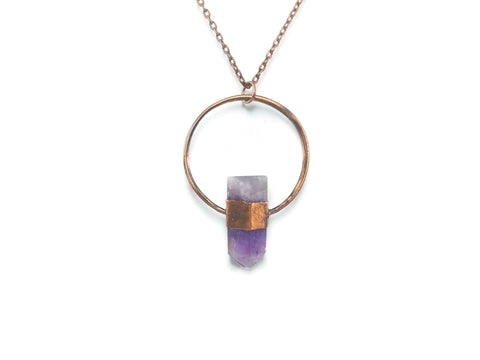 Amethyst Necklace | Amethyst Pendant | Raw Amethyst Necklace | Amethyst Jewelry | Amethyst Point Necklace | Raw Crystal Necklace | Boho