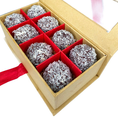 Coconut & Dark Chocolate Truffle Balls (8 Pack)