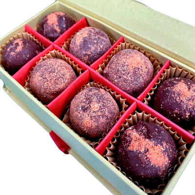 Dark Chocolate Strawberry Truffle Balls