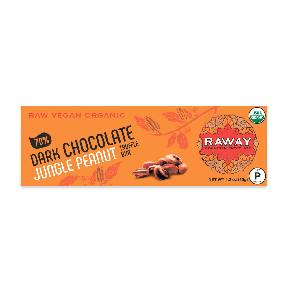 Dark Chocolate Jungle Peanut Truffle Bar