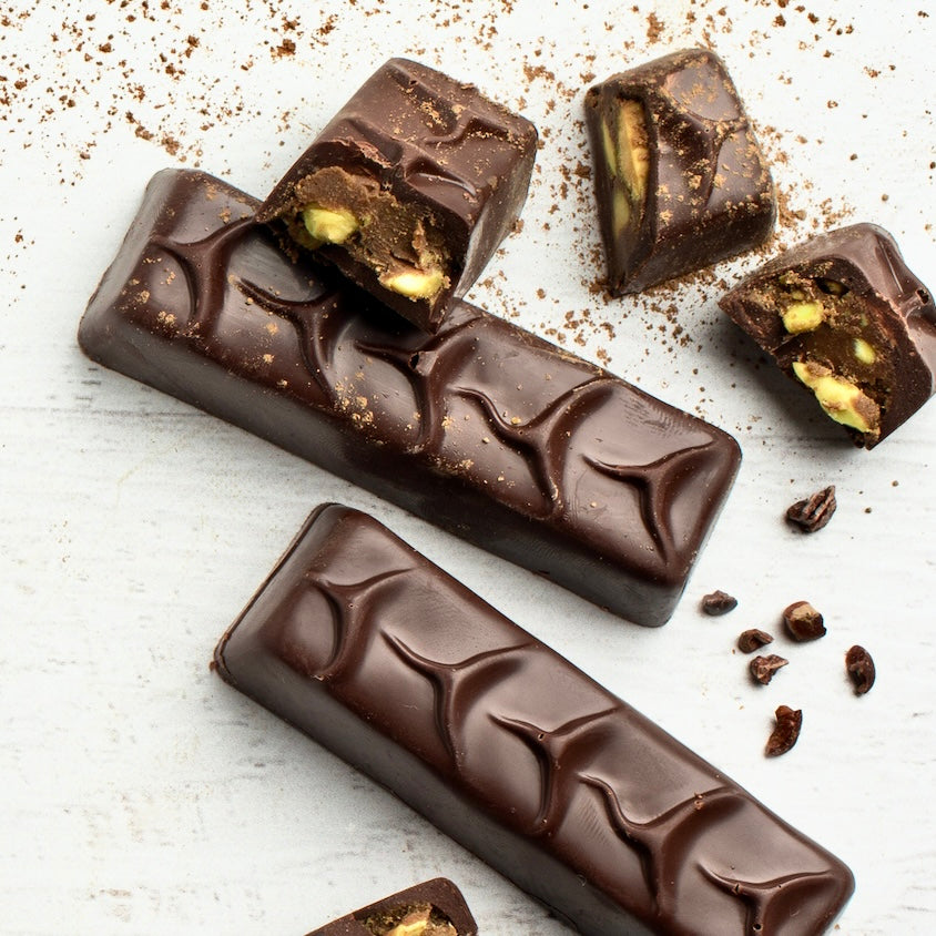 Dark Chocolate Pistachio Truffle Bar