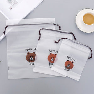 Cartoon bear Waterproof Transparent Organizers Traver Packing For Women