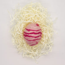 Load image into Gallery viewer, Pink Felted Egg Soap with Pink and White Stripes