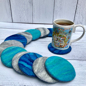 Individual Felted Wool Coasters
