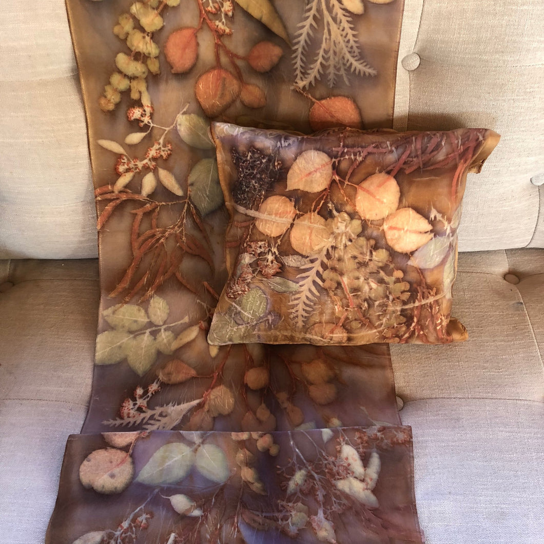 Wide Brown Bed Scarf - One of a kind - Only 1 available