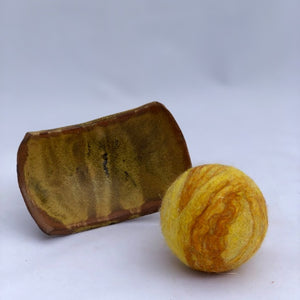 Felted Soap Ball - Caramel