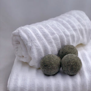 Single Merino Wool Felted Dryer Ball - Gray