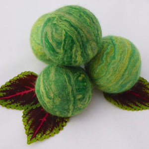 Single Merino Wool Felted Soap Ball - Green