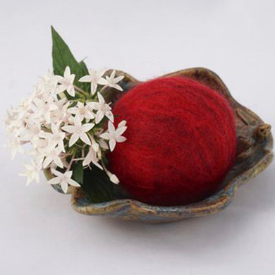 Single Merino Wool Felted Soap Ball - Holiday Red