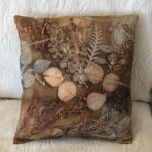 Load image into Gallery viewer, Botanical Dyed Pillow - Silk - One of a kind - Only 2 available