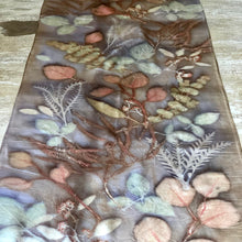 Load image into Gallery viewer, Botanical Dyed Table Runner - 100% Stonewashed Silk - One of a kind - Only 1 available
