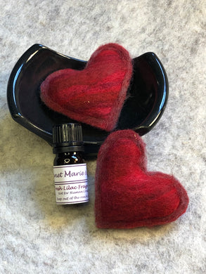 Valentine Felted Hearts Potpourri Gift Set