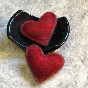 Individual Mini Heart Sachet - Wool filled