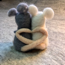 Load image into Gallery viewer, Felted Wool Valentine Mice
