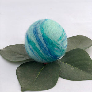 Single Merino Wool Felted Soap Ball - Seaglass