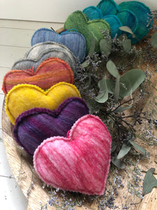 Felted Heart Soap