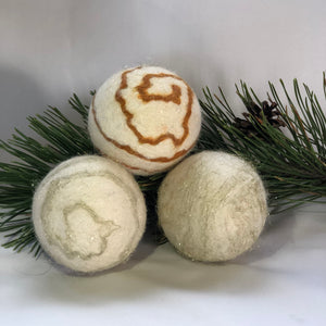 Holiday Felted Soap - Set of 3 - Champagne