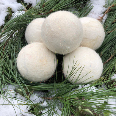 Snowball Felted Soap Balls - Set of 3
