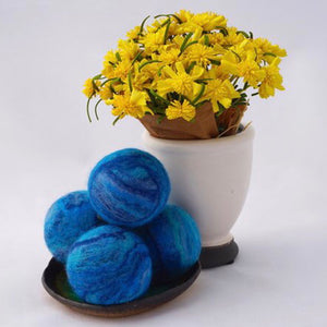Single Merino Wool Felted Soap Ball - Ocean Blue